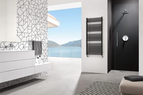 Gorgiel grzejnik łazienkowy, profil kwadrat, malowane proszkowo