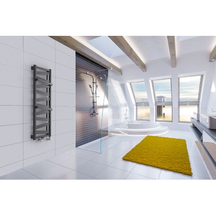 grzejnik łazienkowy; grzejnik dekoracyjny; ogrzewanie hybrydowe; grzałka elektryczna